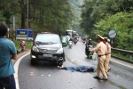 Xe máy đối đầu ô tô trên đèo Prenn, 1 người chết, 1 người nguy kịch