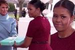 Cư dân mạng 'phát sốt' trước biểu cảm nhận quà của bà Michelle Obama