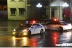 Xe cảnh sát giao thông dẫn đường sẵn sàng đón Chủ tịnh Kim Jong - Un ở ga Đồng Đăng