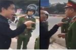 Nam thanh niên vi phạm luật giao thông liên tục thoá mạ, dọa đánh cảnh sát ở Phú Thọ
