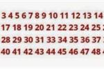Thử tài đầu năm: Hiếm người tìm ra số còn thiếu trong 3 giây