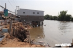 Bờ sông sạt lở, nuốt chửng nhiều nhà dân ở Cần Thơ