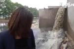 Video: Cận cảnh cống xả thải DN Trung Quốc đầu độc kênh thủy lợi ở Hưng Yên