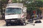 Xe tải đâm bay bốt CSGT, gây tai nạn liên hoàn khiến 2 người thương vong