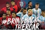 U20 Argentina đến Việt Nam, Messi đá giao hữu với Singapore