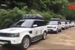 Clip: Dàn siêu xe trăm tỷ của ông chủ cà phê Trung Nguyên gây chú ý ở Ninh Bình