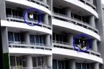 Clip: Ngồi lên lan can chụp ảnh tự sướng, ngã từ tầng 27 chết thảm