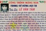 Trường tiểu học dùng ảnh tử tù làm ảnh anh hùng Lê Văn Tám