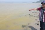 Xuất hiện dải nước màu vàng ở biển Thừa Thiên - Huế