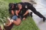 Clip: Cảnh sát Mỹ đấm liên tiếp vào mạng sườn bé gái 14 tuổi