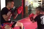Video: Con trai Cung Lê thể hiện năng khiếu võ thuật xuất sắc