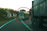 Clip: Ô tô vượt kiểu cảm tử, suýt tông trực diện xe khách