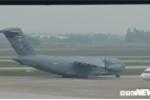 'Ngựa thồ' C-17 của Không quân Mỹ tiếp tục đáp xuống sân bay Nội Bài
