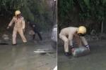 Clip: CSGT cùng dân phòng dọn đá nhấp nhô trên đường, giúp xe lưu thông ở Sa Pa
