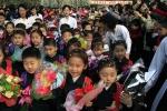 Ảnh: Học sinh Triều Tiên khai giảng thế nào?