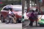 Ra giữa đường ăn vạ bị cảnh sát hỏi thăm, 'gã tàn tật' vác xe lăn chạy nhanh như sóc