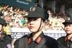 Ảnh: Nữ sinh cảnh sát duyệt binh hùng dũng trong ngày khai giảng