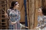Cặp mẫu song sinh Huyền Thư - Thư Huyền hoá thân 'Cô Ba Sài Gòn' trong tà áo dài Kenny Thái
