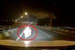 Clip: Xe máy chạy ngược chiều, lao thẳng vào đầu ô tô trên cao tốc Hà Nội - Hải Phòng