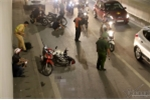 Hai xe máy tông nhau trong hầm Kim Liên, một người bị thương nặng