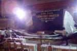 Sân khấu đổ sập, 3 cán bộ phường bị thương