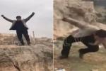 Clip: Trèo lên mỏm đá chụp ảnh, người đàn ông chết thảm vào đúng sinh nhật