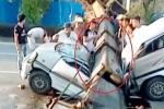 Cần cẩu sập đè nát ô tô, 7 người chết thảm