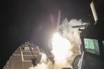 Video, ảnh: Mỹ ồ ạt phóng tên lửa vào căn cứ quân sự Syria