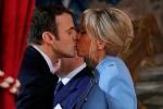 Tổng thống Pháp hôn vợ ngọt ngào sau khi tuyên thệ nhậm chức