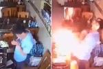 Châm lửa hút thuốc, bật lửa nổ tung cháy sém mặt