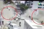 Clip: Ống thải nổ tung rung chuyển vỉa hè, 1 người chết thảm