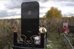 Video: Cận cảnh bia mộ hình iPhone 7 thật đến từng chi tiết trong nghĩa trang Nga