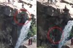 Clip: Trèo xuống vách đá để 'lấy góc ảnh đẹp', ngã thác chết thảm
