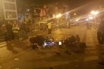 Xe máy chở 3 gây tai nạn trên cầu vượt ở Hà Nội, 3 người thương vong
