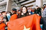 Hoa hậu Đỗ Mỹ Linh lặng lẽ sang Trung Quốc cổ vũ U23 Việt Nam