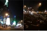 Clip: Đường phố ngập ngụa rác đêm Noel khiến dân mạng ngán ngẩm
