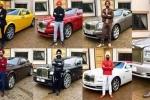 Tỷ phú tậu 7 chiếc Rolls-Royce cùng màu khăn xếp để đi mỗi ngày trong tuần