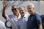 Ảnh: Ba cựu Tổng thống Mỹ rủ nhau đi xem đánh golf