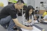 Lớp học tiếng Anh và Thư thiền miễn phí thu hút người học ở TP.HCM
