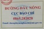 Cong bo so dien thoai duong day nong Cuc Bao chi hinh anh 1