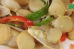 Cách làm cồi mai xào sả ớt đặc sản Cửa Lò
