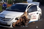 Sợ bị phát hiện chở pháo lậu, tài xế taxi tăng ga bỏ chạy rồi gây tai nạn