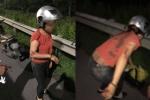 Nghi vấn bị giật túi xách, chồng bất tỉnh, vợ bị thương trên cao tốc Hà Nội - Bắc Ninh
