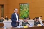 Thông qua Nghị quyết quy định cấp hàm Trung tướng, Thiếu tướng Công an