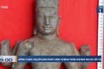 Đi cắt cỏ, người dân Đồng Tháp phát hiện tượng thần Vishnu