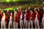 Khoảnh khắc ấn tượng lễ vinh danh những 'người hùng' ASIAD 2018 tại sân vận động Mỹ Đình