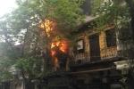 Nghi vấn cháu bé nghịch lửa làm cháy cửa hàng quần áo ở Hà Nội