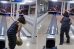 Clip: Phụ nữ ném bowling và cái kết thảm họa