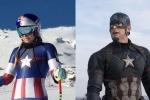 VĐV Mỹ hóa trang thành Captain America thi trượt tuyết ở Thế vận hội mùa đông