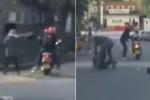 Người hùng lao ra tóm sống tên cướp đi mô tô trên đường chạy trốn